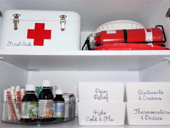 Medicine Cabinet Organising